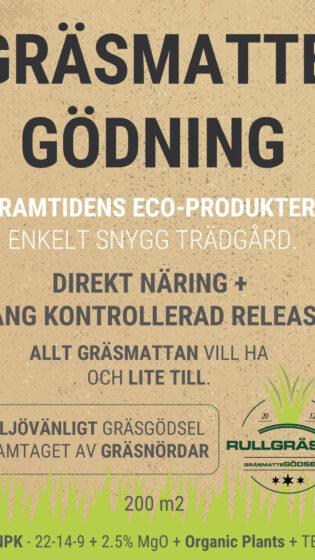 GRÄSMATTEGÖDSEL – Nyetableringsgödning vid nyetablering av gräsmatta