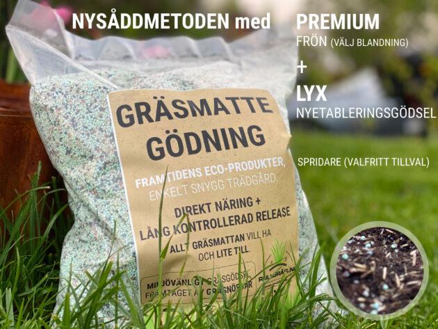 Nysåddmetoden med Rullgräs.nu - Gräsfrön + Gödsel (special)